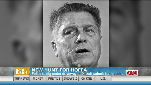 New hunt for Hoffa's remains