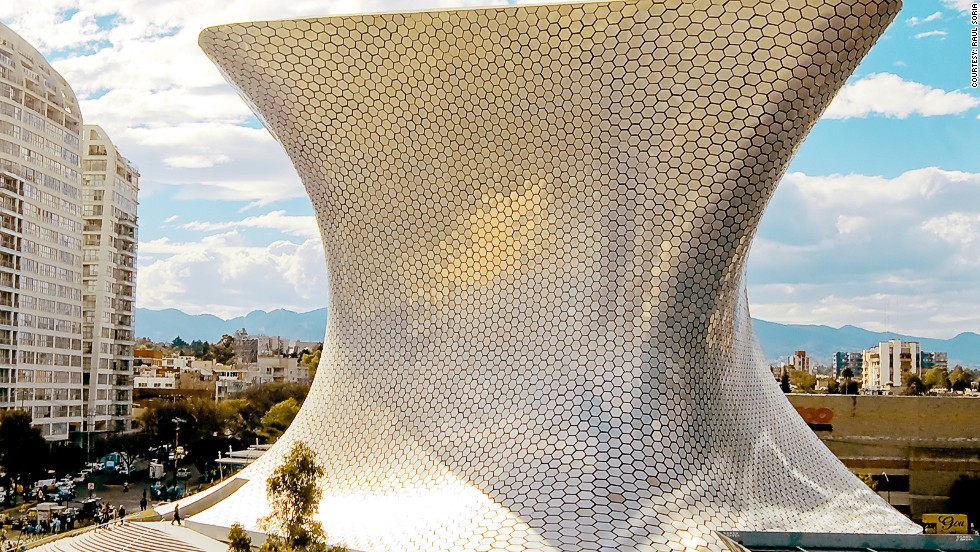 Fernando Romero designed the jaw-dropping Soumaya Museum in Mexico City. The building is clad in aluminium to reflect the ornamental value of the museum's collection, which includes Baroque and 14th century European art.