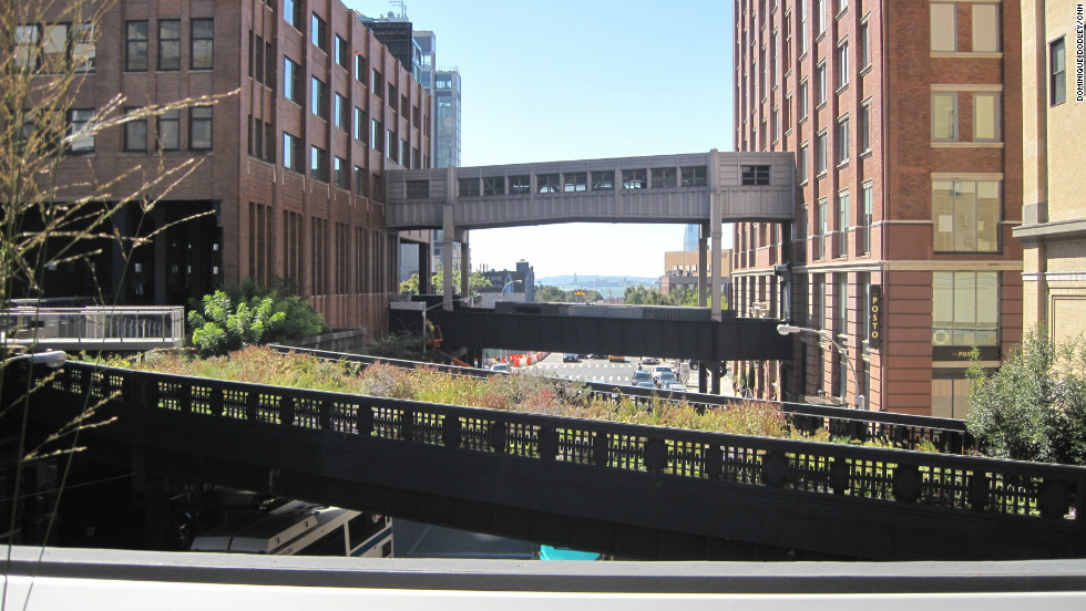 The High Line is an elevated park in Manhattan, which opened in 2009 on what were once raised train tracks.