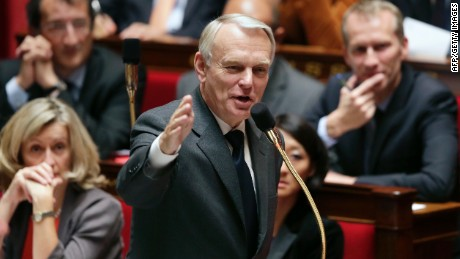 French Prime Minister, Jean-Marc Ayrault adresses MPs during the weekly session of questions to the government on September 25, 2012 at the National Assembly in Paris. AFP PHOTO KENZO TRIBOUILLARD (Photo credit should read KENZO TRIBOUILLARD/AFP/GettyImages)