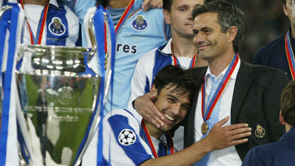 Mourinho made his name at Porto by leading the club to a shock Champions League success by beating Monaco in the final. The Portuguese side famously defeated Manchester United on its way to glory in 2004.