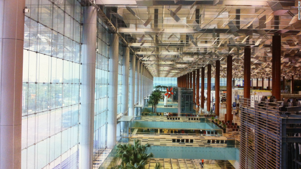 Another location making use of an innovative lighting arrangement is Changi Airport in Singapore. Double glazed glass and solar shading devices let natural light into the building whilst minimizing the heat generated from sunlight, reducing the need for artificial lighting and air conditioning.