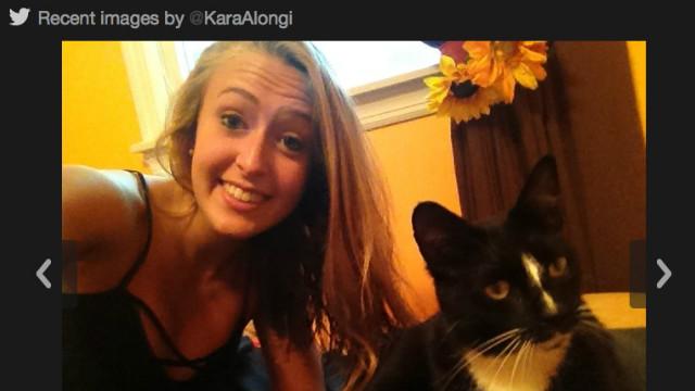 A photo of Kara Alongi from her Twitter feed.