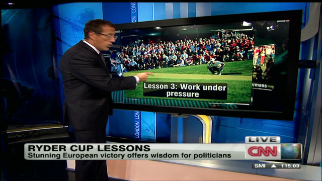 Politicians can learn from the Ryder Cup