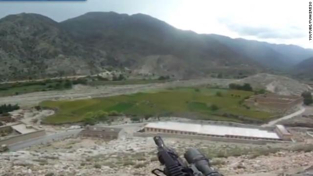 Helmet cam captures Afghan firefight