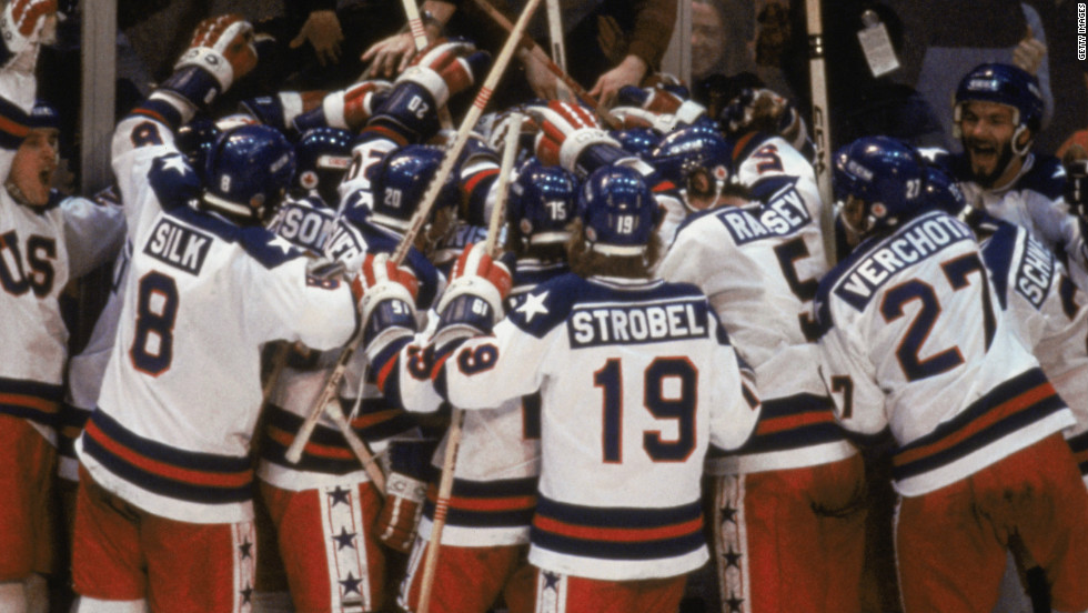 Having won the last four gold medals, the Soviet Union were hot favourites to win ice hockey gold at the 1980 Winter Olympics. Few expected Team USA - made up of amateur and college players - to stop them but they defied the odds to beat the Soviets 4-3 in a semifinal which became known as 'The Miracle on Ice.' They went on to win gold against Finland in the final.