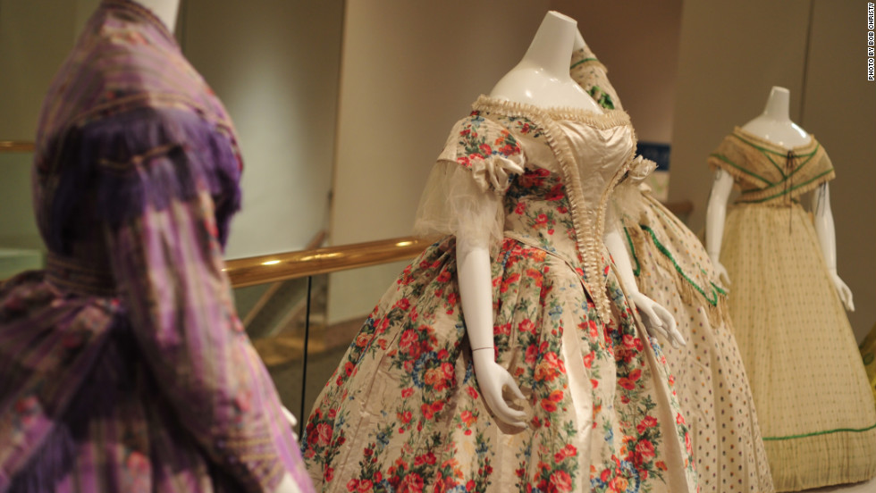 "These dresses were featured in last year's ""On the Home Front: Civil War Fashions and Domestic Life,"" an exhibition remembering the 150th anniversary of the Civil War. Its fashion offered a glimpse of some Americans' life experiences during the conflict."