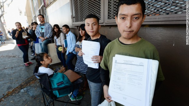 Applicants in Los Angeles line up in August to file for the Obama administration's reprieve from deportation.