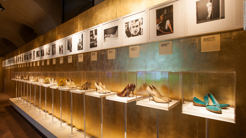Through January 28, 2013, fashion and film lovers can view the Ferragamo-created footwear Marilyn Monroe wore — and view an incredible collection of the star's photos — at Museo Salvatore Ferragamo.