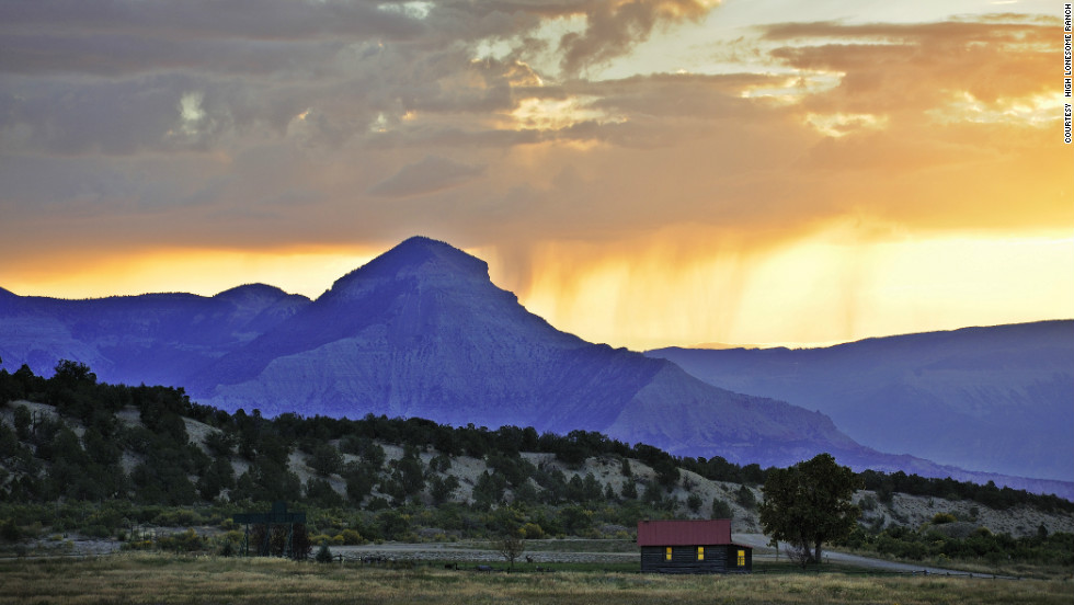 HIgh Lonesome Ranch has guest houses and remote cabins on its 300-square-mile property in Colorado.