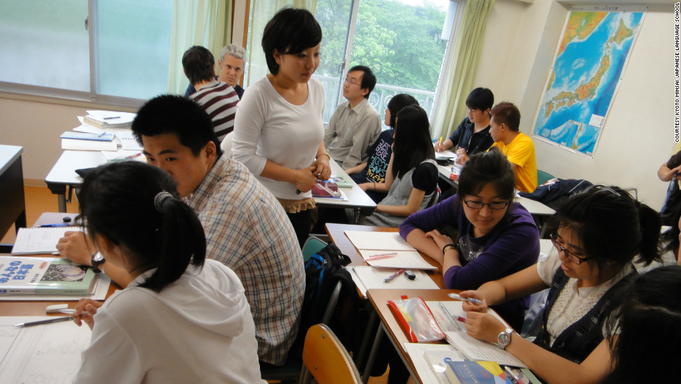Beginners, intermediate learners and advanced speakers all study at the Kyoto Minsai Japanese Language School in Kyoto, which offers short- and long-term classes.