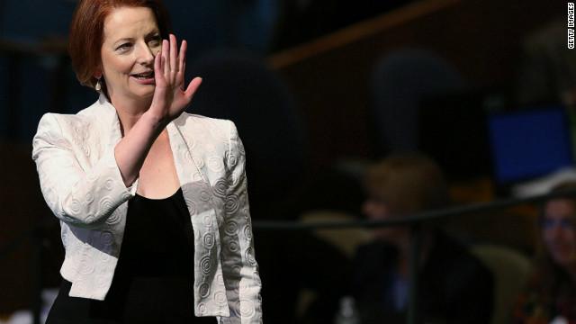 See Australian prime minister face-plant
