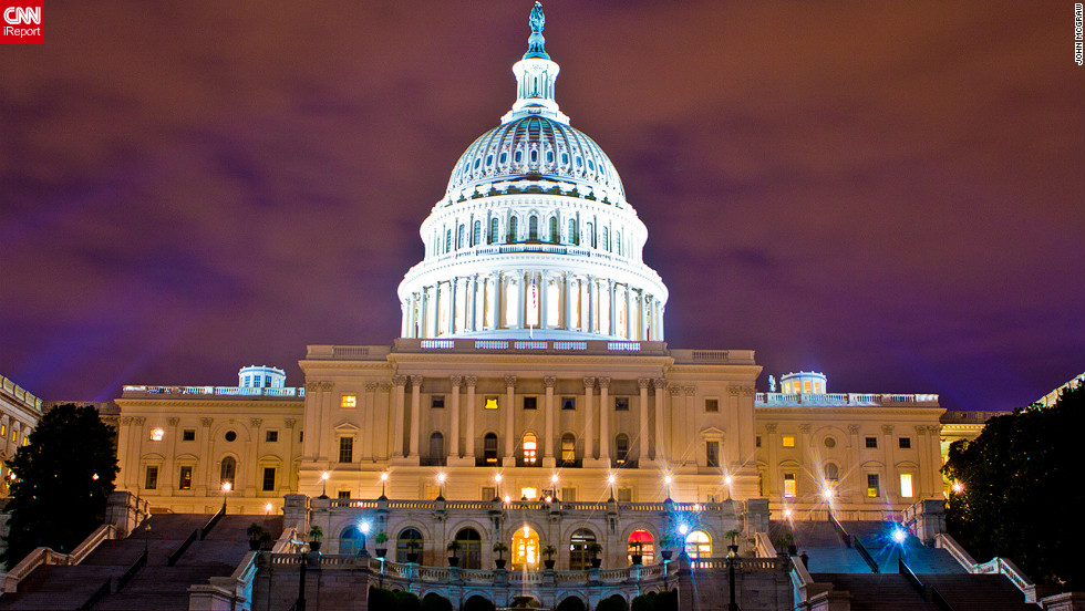 """Another stunning image from John McGraw. Will <a href=""""http://edition.cnn.com/ELECTION/2012/"""">Mitt Romney or Barack Obama</a> be sworn in on the steps of Capitol Hill, Washington DC (pictured) come January 20 2013?"""