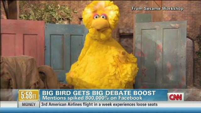 Big Bird's big debate boost