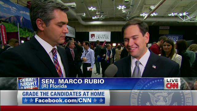 Rubio: Obama uncomfortable at debate