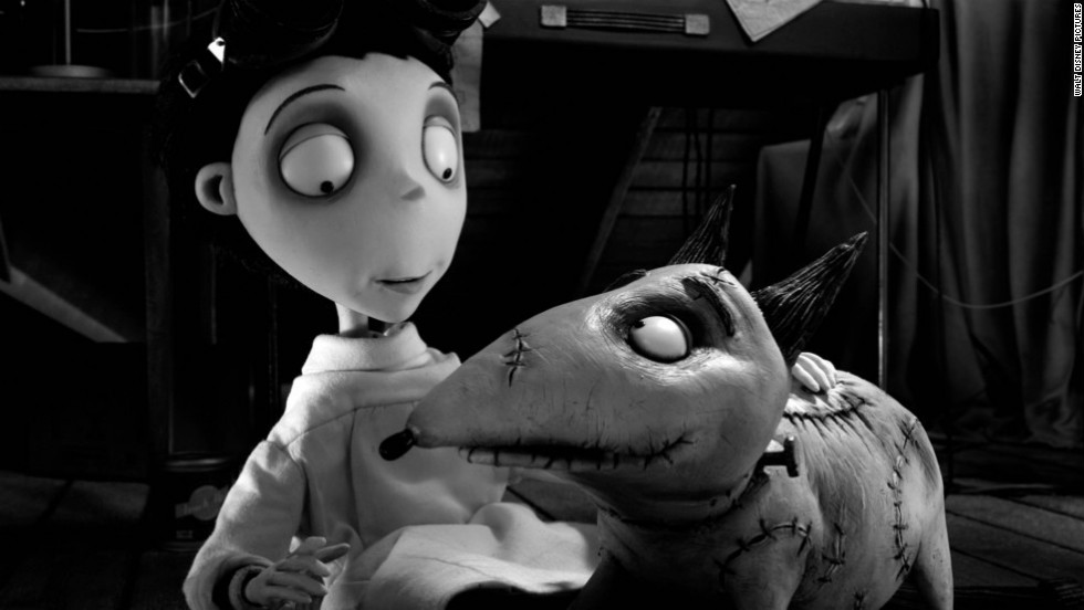 """Frankenweenie"" and ""The Cabin in the Woods"" are tied for the 10th spot on this list of 2012's best films. Horror movies rarely get respect in year-end lists, but of the three films scripted or co-scripted by Joss Whedon this year (""The Avengers"" and ""Much Ado About Nothing"" were the others), ""The Cabin in the Woods"" was the most fiendishly ingenious -- a horror movie that was truly out of the box. As for ""Frankenweenie,"" pictured, this 3-D black-and-white tribute to classic Universal monster movies showed yet again that Tim Burton is most himself in animated film."