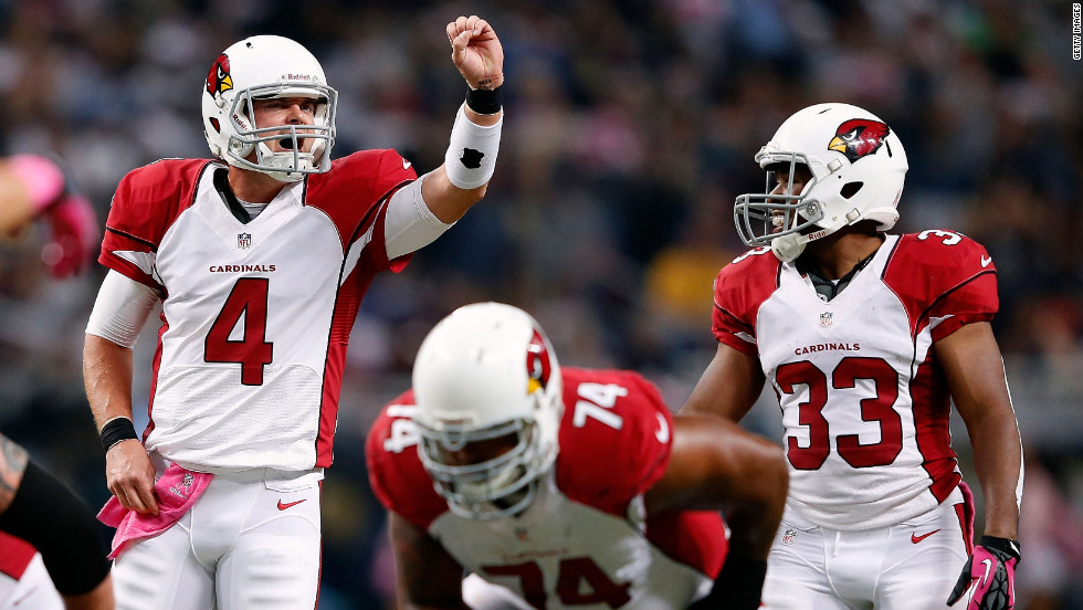 "Arizona Cardinals quarterback Kevin Kolb calls out signals Thursday night. <a href=""http://www/2012/09/27/worldsport/gallery/nfl-week-4/index.html"" target=""_blank""><strong>Look back at the best photos from Week Four of the NFL.</a></strong>"