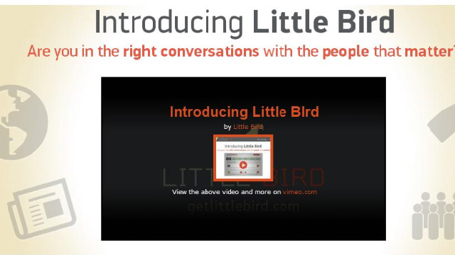 Little Bird, released in a limited beta version, seeks to point users toward social media accounts they'll find relevant.