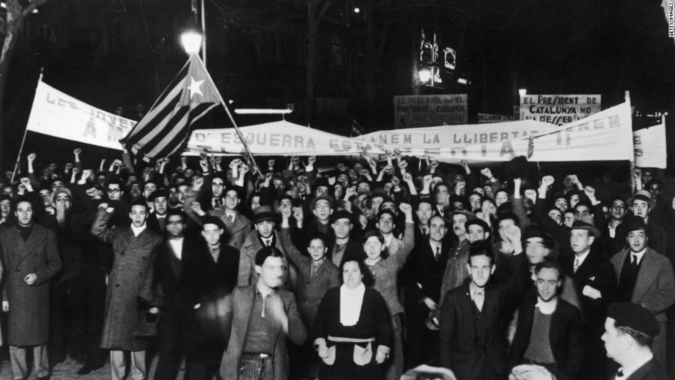 Catalan customs and the region's language were aggressively repressed by general Franco during the Spanish Civil War, which was fought between 1936 and 1939.