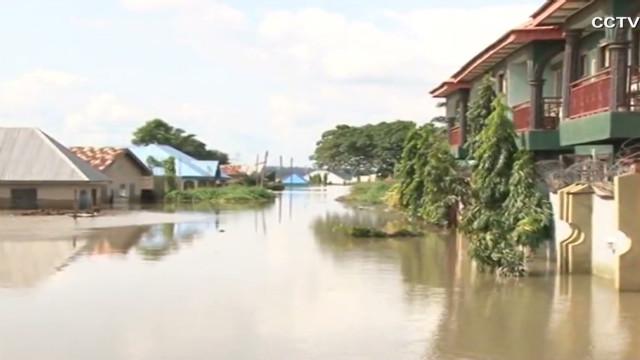 Nigeria flood displaces people, animals