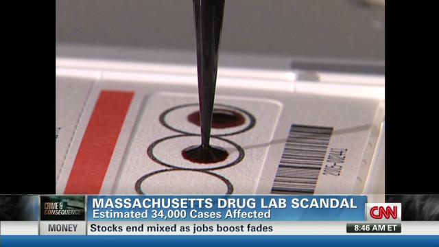 Crime lab scandal affects 34,000 cases