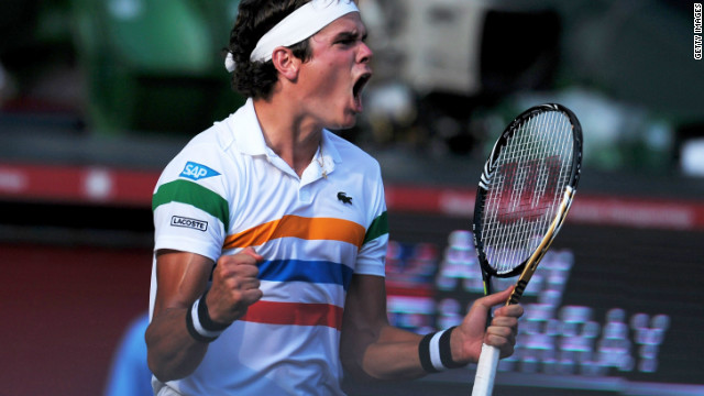 Milos Raonic savors his upset victory over Andy Murray at the Japan Open.