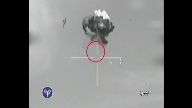 Watch footage of drone being shot down