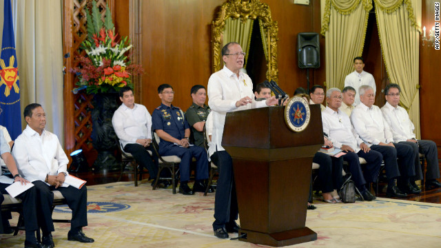 Philippines President Benigno Aquino announces a historic peace deal October 7.