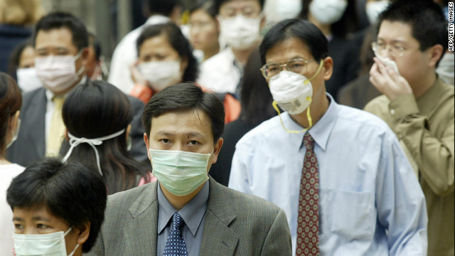 Hong Kong commuters during the 2003 SARS outbreak