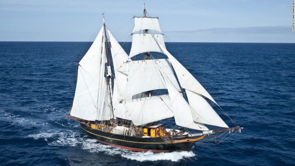 "The 19th century ""Golden Age of Sail"" could be experiencing a revival. Modern-day cargo ship, Tres Hombres (pictured), is relying solely on wind power for its eight-month voyage to the Caribbean."