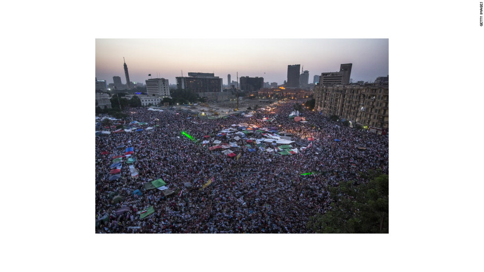 Tahrir Square in Cairo was the central scene of fighting during more than a year of political unrest in Egypt. The country's economy is struggling to recover and almost one in three young people are out of work.