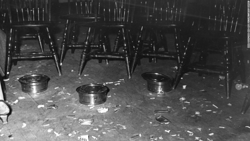 "The party left a mess. ""Porters agreed they hadn't seen so many butts since (the) State Firemen's Convention in 1938."" And where were the men? Life reports they were ""flabbergasted"" by the smoker and many ""spent the evening playing bingo with abstainers and Democrats at another hall nearby."" <a href=""http://life.time.com/curiosities/life-goes-to-a-gop-womens-smoker/"" target=""_blank"">See more photographs from the night on Life.com</a>."