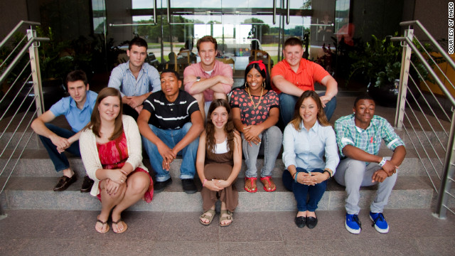 Melissa Stegner, front row, second from right, is among MADD's first Power of You(th) teen influencers.