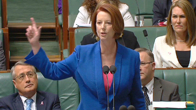 Gillard accuses opposition of sexism