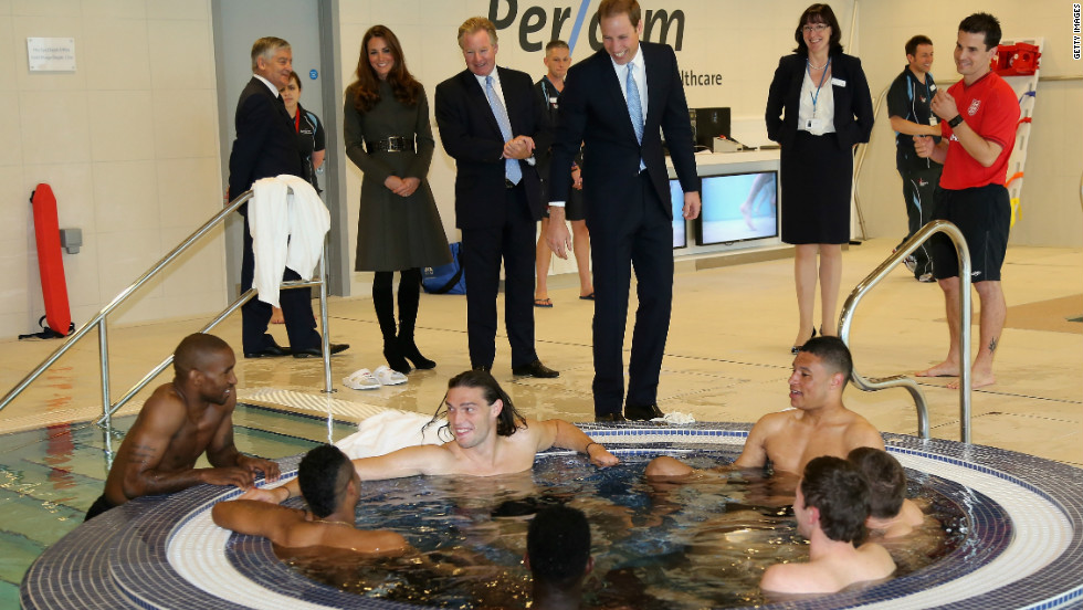 The Duke and Duchess of Cambridge were on hand to officially open a new centre of excellence for the England national football team, including the hyrotherapy suite.
