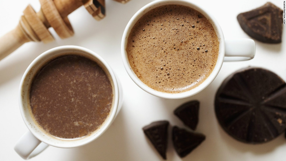 """<strong>Prepare for the future: </strong>There's nothing like a hot cup of cocoa after a day frolicking in (or shoveling) snow. And since <a href=""""http://www.sciencedaily.com/releases/2003/11/031106051159.htm """" target=""""_blank"""">researchers at Cornell University</a> say the delicious drink contains a healthy dose of antioxidants, you shouldn't feel guilty about indulging. The antioxidants protect your body from free radicals that can damage cells, <a href=""""http://www.nlm.nih.gov/medlineplus/antioxidants.html"""" target=""""_blank"""">according to the National Institute of Health</a>. Need more convincing? <a href=""""http://www.sciencedaily.com/releases/2012/08/120813173205.htm"""" target=""""_blank"""">A study </a>published in the August edition of the journal Hypertension showed that flavanols -- the main type of flavonoids, or antioxidants, found in cocoa and chocolate -- may even improve mild cognitive impairment in the elderly."""