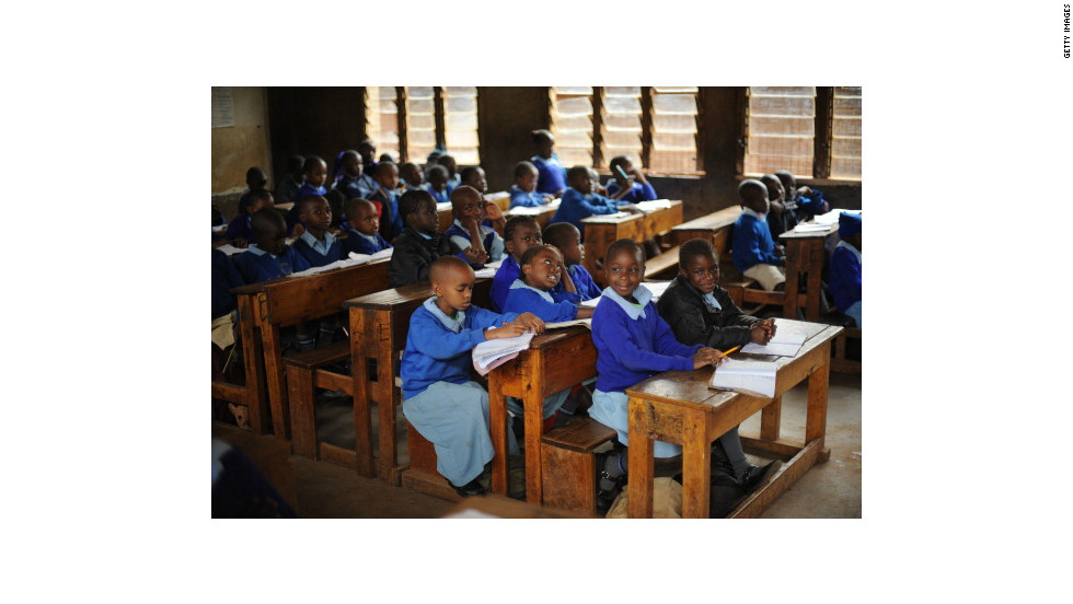 Pupils at a primary school in Nairobi face an uncertain futrure.  Africa's youth population is set to double by 2045. Experts say a sustainable private sector must be developed in order to secure jobs for future generations.