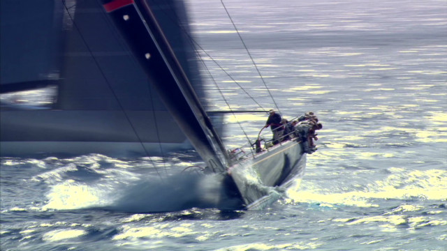 Maxi yachts compete in Sardinia