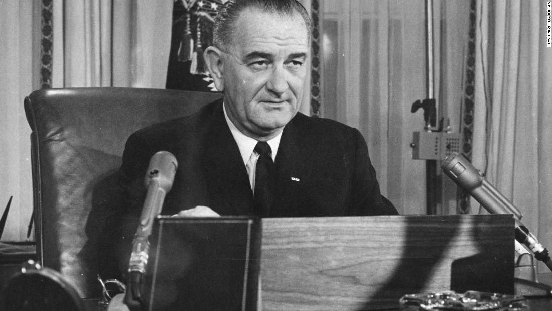 Long before serving as the 36th president, Lyndon Johnson defeated Gov. Coke Stevenson in the Texas Democratic primary runoff for Senate in 1948 by 87 votes. Many charged that Johnson stole the office through ballot fraud. Pictured, Johnson addresses the nation in 1963.