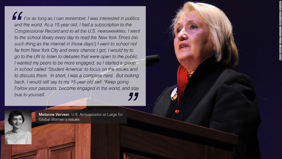 "In 2009, U.S. Secretary of State Hillary Clinton created a new role in the State Department -- Ambassador-at-Large for Global Women's Issues. Clinton's former Chief of Staff to the First Lady, Melanne Verveer was appointed to the role. Additionally Verveer had previously co-founded <a href=""http://www.vitalvoices.org/"" target=""_blank""><strong>Vital Voices Global Partnership</a></strong>, an international non-governmental organization supporting global women's leadership. Today, Ambassador Verveer leads the Office on Global Women's Issues."