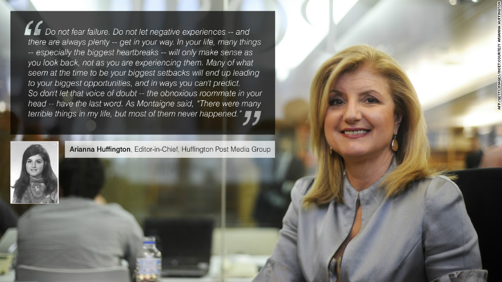 "Well known for her internet-based news sites, <a href=""https://twitter.com/ariannahuff"" target=""_blank""><strong>Arianna Huffington</a></strong> is an American author in addition to her roles as president and editor-in-chief of the Huffington Post Media Group."