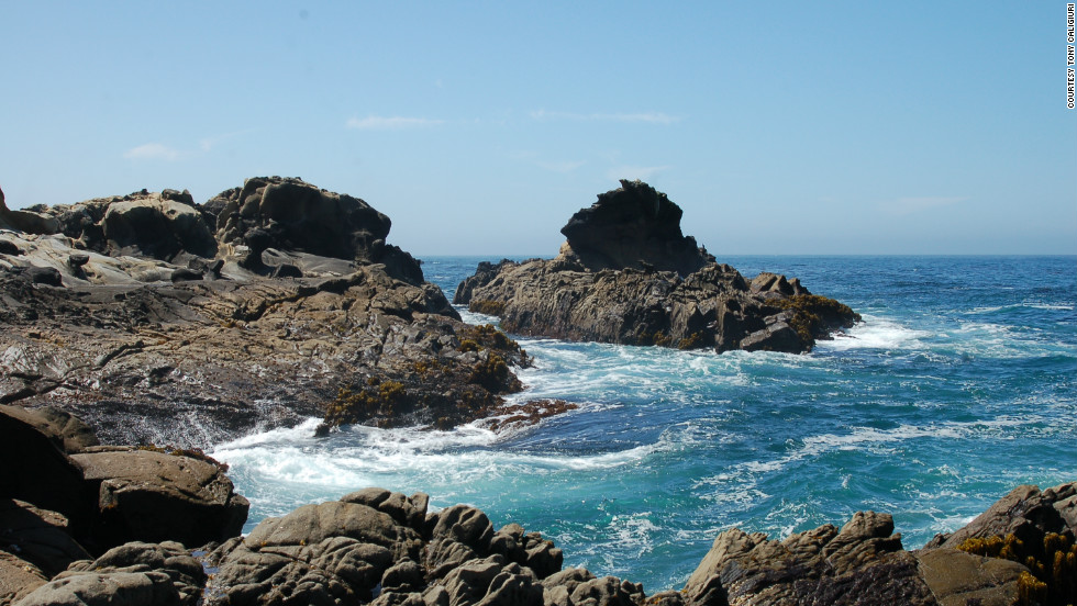 Hiking can be done as a five-mile loop, and the trail offers a wide-angle view of the ocean.