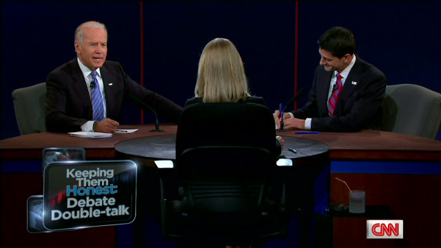 Vice presidential debate double-talk