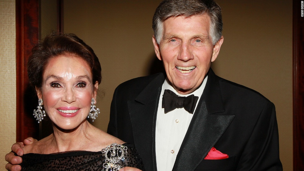 Mary Ann Mobley and Collins attend the Eagle & Badge Foundation Gala Honors in 2010.