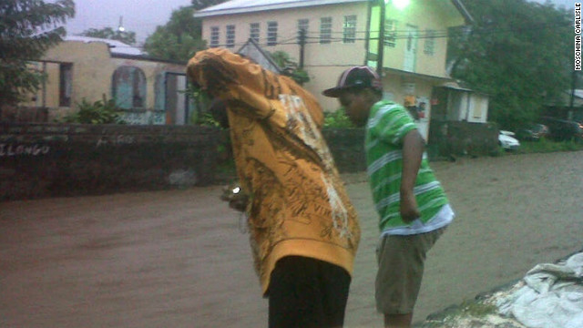 Basseterre flooding has cut off the east side of the city from the west side.