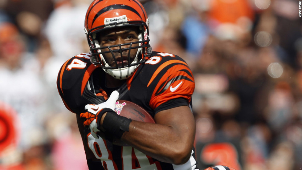 Jermaine Gresham of the Cincinnati Bengals runs for a touchdown.