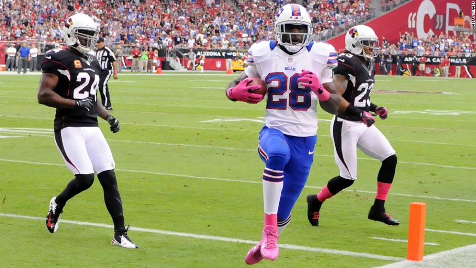 C.J. Spiller of the Buffalo Bills runs in for a touchdown Sunday.