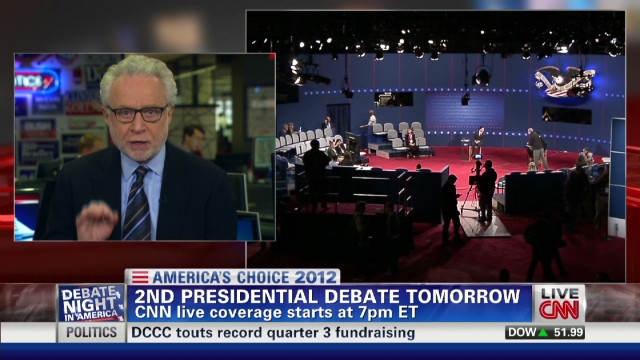 Wolf Blitzer on town hall debate format