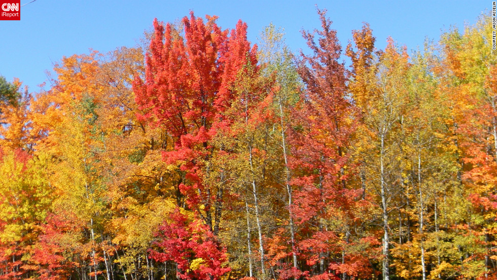 "Jason Asselin captured this photo of <a href=""http://ireport.cnn.com/docs/DOC-850833"">Wisconsin's fall color</a> while on a leaf-peeping trip with his motorcycle club."