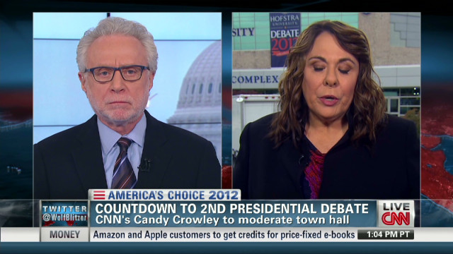 Candy Crowley on debate format